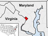 На карте Вашингтон (округ Колумбия) выделен красным цветом