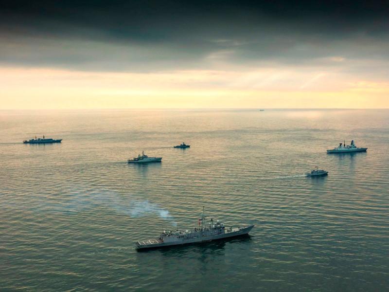 Корабли НАТО в Черном море, февраль 2018 года