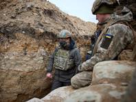 Владимир Зеленский 8 апреля посетил позиции украинских войск в Донбассе