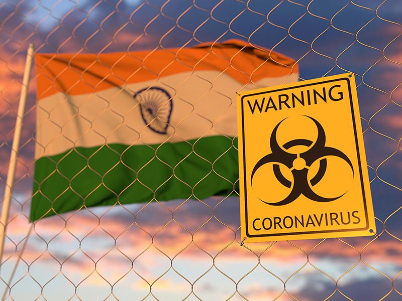 В Индии прирост заразившихся COVID-19 бьет рекорд пятый день подряд