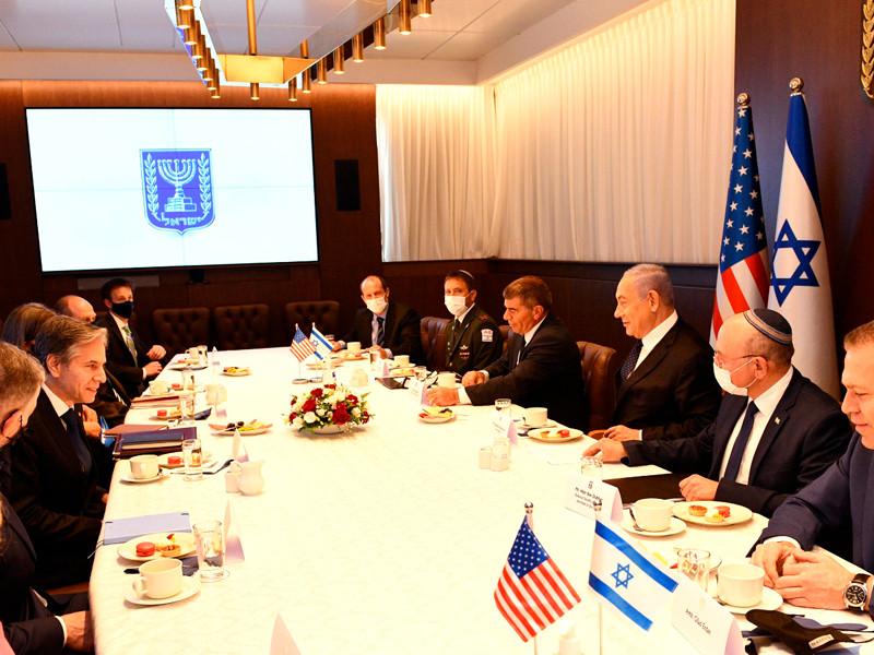 Энтони Блинкен провел переговоры с Биньямином Нетаньяху