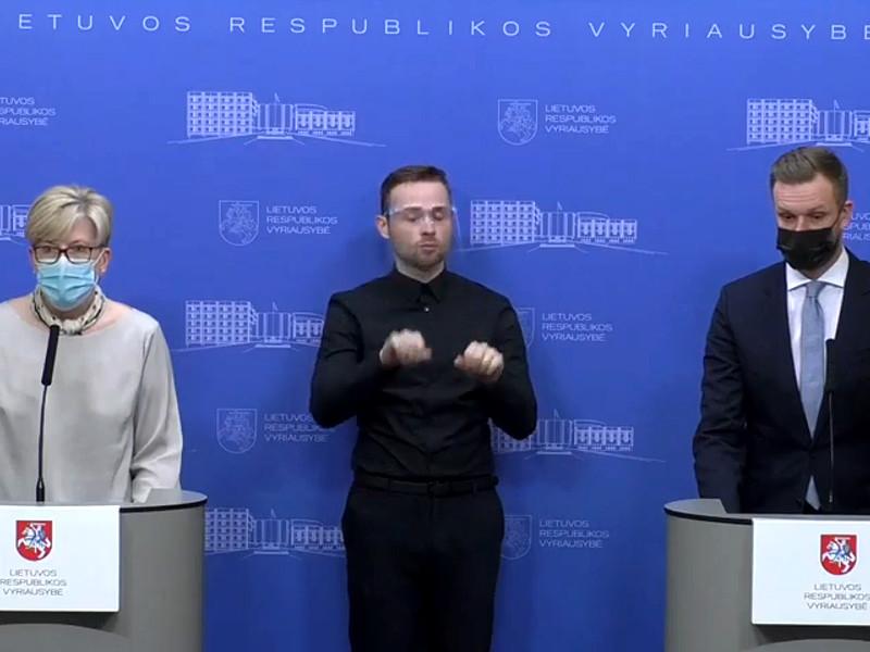 Премьер-министр Литвы Ингрида Шимоните и министр транспорта и сообщения Литвы Марюс Скуодис, 24 мая 2021 года