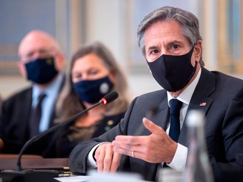 Энтони Блинкен на встрече с Владимиром Зеленским