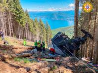 В северной Италии рухнула кабина канатной дороги