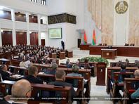 Президент Белоруссии Александр Лукашенко на встрече с парламентариями, членами Конституционной комиссии и представителями органов государственного управления