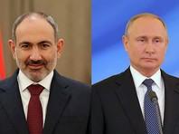 Никол Пашинян и Владимир Путин провели телефонные переговоры по поводу очередного обострения ситуации в Армении
