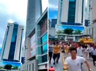 В Шэньчжэне неожиданно накренился и зашатался 73-этажный небоскреб