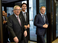 """""""Сегодня - важный день для Европы. Подписание СЕТА подтверждает приверженность ЕС идеалам свободной торговли. Мы в настоящий момент продолжаем переговоры по 21 аналогичному соглашению"""", - заявил глава Еврокомиссии Жан-Клод Юнкер"""