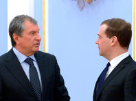 Дмитрий Медведев и Игорь Сечин