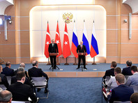 Накануне президент РФ Владимир Путин провел в Сочи переговоры с турецким коллегой Реджепом Тайипом Эрдоганом