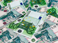 Курс евро на Московской бирже поднимался выше  65 рублей впервые с 1 февраля