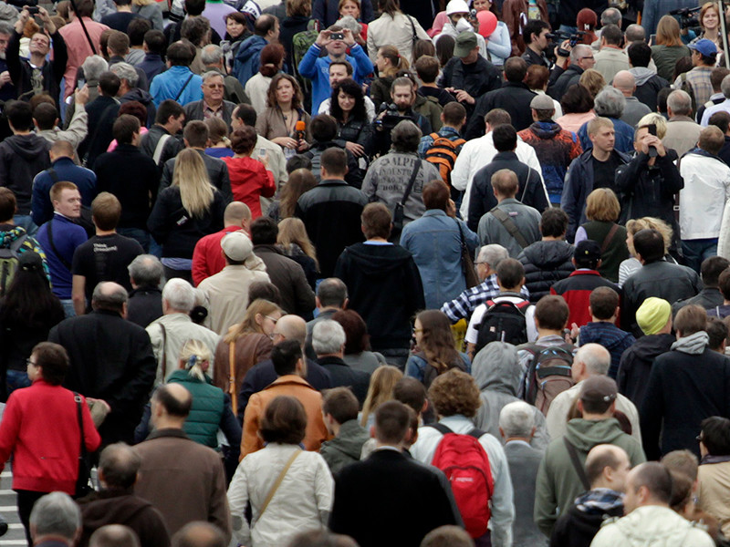 Население РФ за январь-май 2018 года сократилось на 77,8 тыс. человек