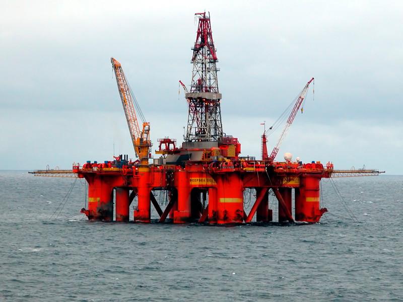 Буровая платформа в Северном море