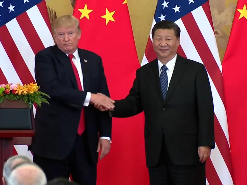 Президент США Дональд Трамп и председатель КНР Си Цзиньпин, ноябрь 2017 года