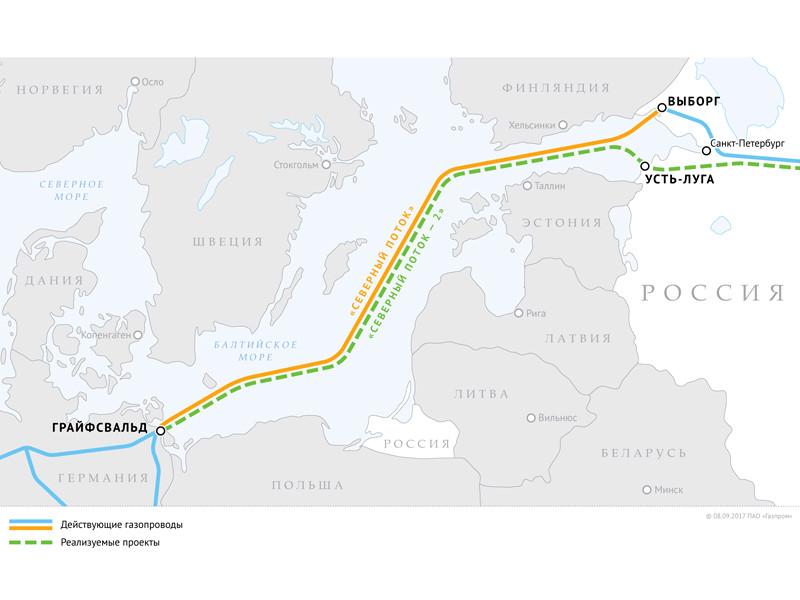"""Nord Stream 2 AG подала иск в Европейский суд, пожаловавшись на дискриминацию проекта """"Северный поток 2"""""""