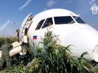 """Самолет Airbus A321 авиакомпании """"Уральские авиалинии"""", летевший в Симферополь, совершил аварийную посадку возле аэропорта Жуковский. В оба двигателя взлетавшего лайнера попали птицы, в результате чего произошел отказ и возгорание силовых установок"""