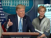Падение на американском фондовом рынке ускорилось после заявления президента США Дональда Трампа о том, что ситуацию с распространением коронавируса не удастся взять под контроль ранее августа