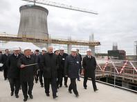 Александр Лукашенко во время посещения площадки строительства Белорусской АЭС, 9 октября 2015 года