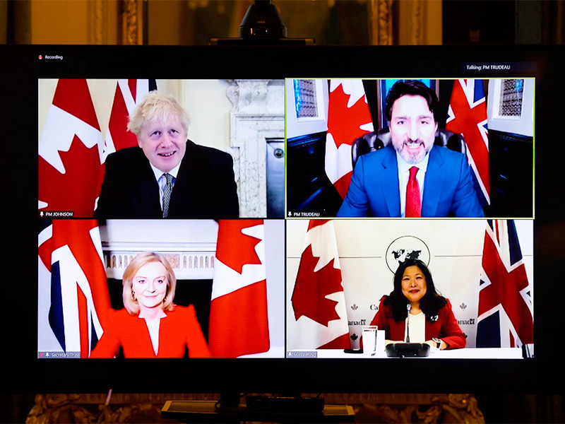 Великобритания и Канада подписали временное торговое соглашение о сотрудничестве после Brexit