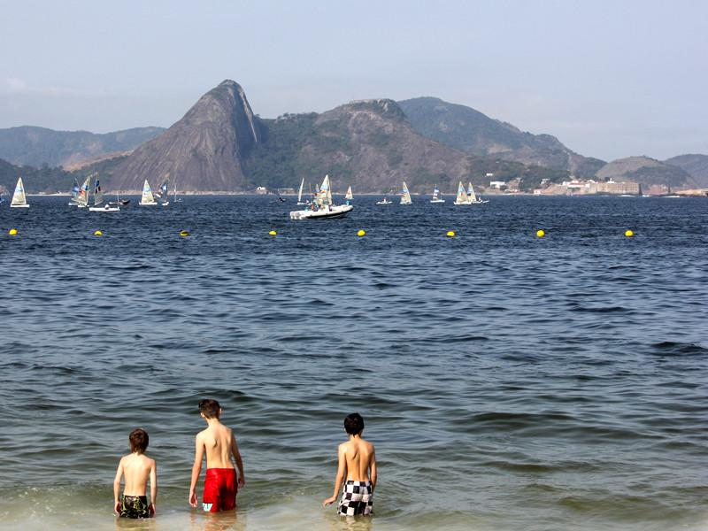 Залив Гуанабара в Рио-де-Жанейро