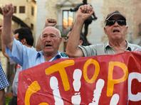 В Барселоне забросали яйцами безголовую статую генерала Франко