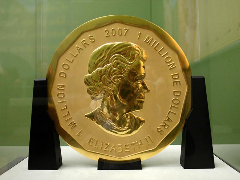 В Германии задержаны четверо мужчин, подозреваемых в краже 100-килограммовой золотой монеты из музея