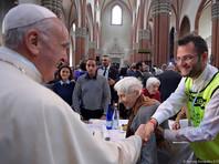 Два итальянских рецидивиста сбежали во время благотворительного обеда с Папой Франциском