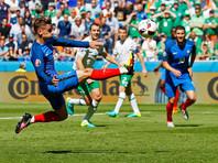 Евро-2016: Франция одолела Ирландию благодаря двум голам Гризманна