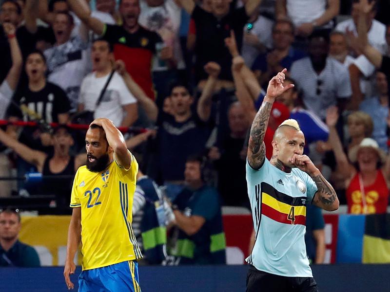 Матч группового этапа чемпионата Европы по футболу - 2016 между сборными командами Швеции и Бельгии