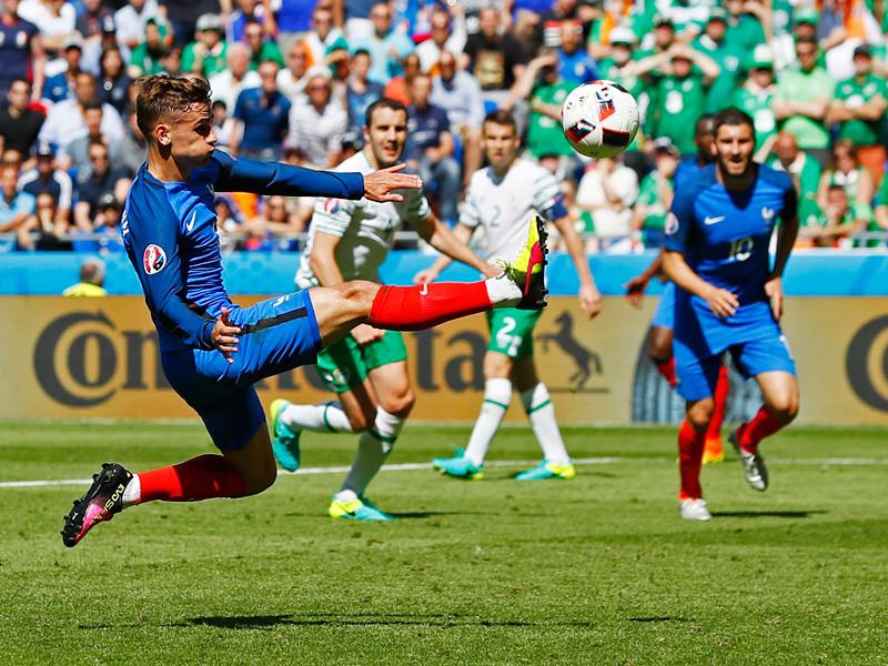 Чемпионат Европы по футболу-2016, 1/8 финала. Сборная Франции - сборная Ирландии