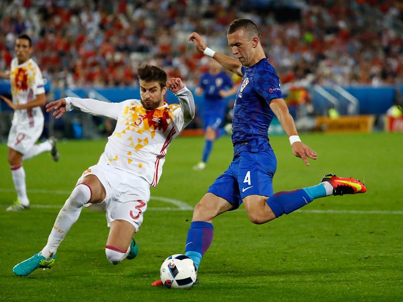 Матч группового этапа чемпионата Европы по футболу - 2016 между сборными командами Хорватии и Испании
