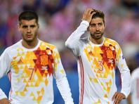 Жерар Пике показал неприличный жест во время исполнения гимна Испании