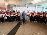 В Рио-де-Жанейро торжественно проводили 70 олимпийцев РФ