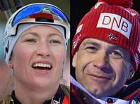 Знаменитые биатлонисты Бьерндален и Домрачева сыграли свадьбу