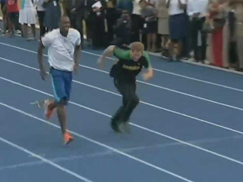 Принц уже соревновался в беге с самым быстрым человеком планеты. Это было в 2012 году, когда Гарри приезжал на Ямайку. Тогда Болт позволил гостю выиграть