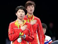 Пара китаянок разыграла титул олимпийской чемпионки в настольном теннисе