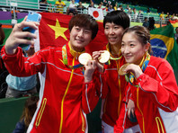 Китаянки вновь забрали олимпийское золото в командном турнире по пинг-понгу