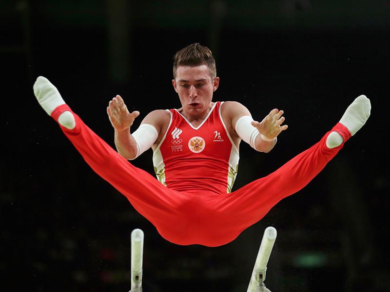 Российский гимнаст Давид Белявский завоевал бронзовую медаль Олимпийских игр в Рио-де-Жанейро в индивидуальных упражнениях на брусьях