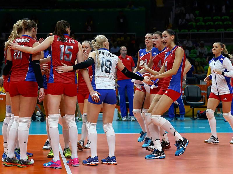 Женская сборная России одержала вторую победу на групповом этапе олимпийского турнира в Рио-де-Жанейро, взяв верх над командой Кореи в четырех сетах со счетом 3-1 (25:23, 23:25, 25:23, 25:14)