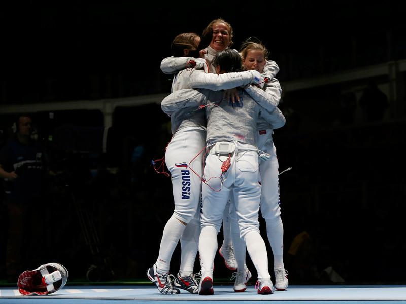 Российские саблистки пробились в финал командных соревнований на Олимпиаде