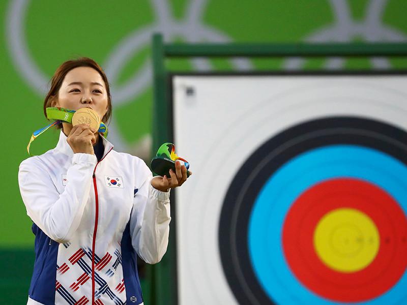 Корейская лучница Чан Хе Джин завоевала золотую медаль в личном первенстве на Олимпийских играх в Рио-де-Жанейро