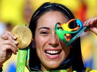 Велогонщица Мариана Пахон из Колумбии выиграла золотую медаль Олимпиады-2016 в дисциплине ВМХ