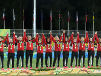 Первыми олимпийскими чемпионками в регби-7 стали австралийки