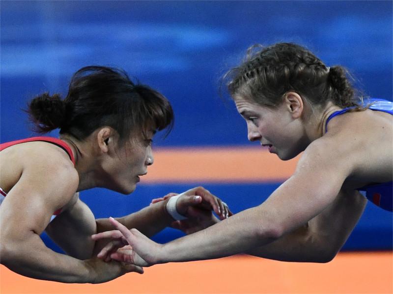 Валерия Коблова во время финального поединка с Каори Ите
