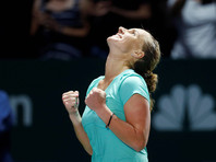 Светлана Кузнецова подстриглась во время матча Итогового турнира WTA