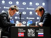 Карякин обыграл Карлсена черными фигурами в матче за шахматную корону
