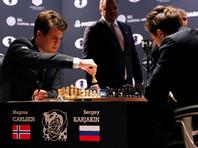В первой партии за шахматную корону Карлсен и Карякин сильнейшего не выявили