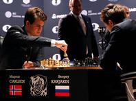 Шахматисты Карлсен и Карякин повторно сыграли вничью