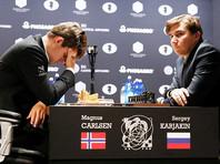 Карякин и Карлсен в битве за шахматную корону выдали седьмую ничью подряд