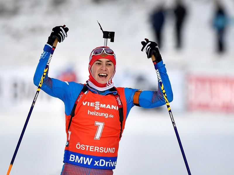 Антон Бабиков впервые в карьере выиграл этап Кубка мира по биатлону